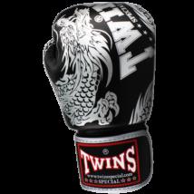 Twins bőr boxkesztyű FBGV-49 - sárkány mintás - fekete