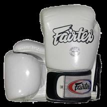 Fairtex bőr boxkesztyű BGV-1 - fehér