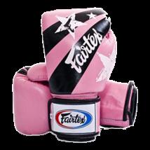 Fairtex bőr boxkesztyű - Nation Print - pink