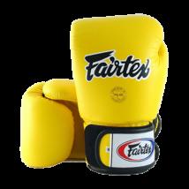 Fairtex bőr boxkesztyű BGV-1 - sárga 10-16oz