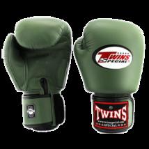 Twins bőr boxkesztyű BGVL-3 - olivazöld