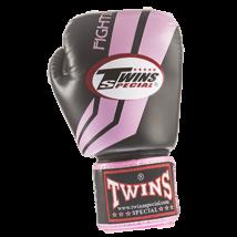 Twins bőr boxkesztyű FBGV-43 - fekete-pink