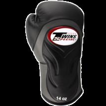 Twins bőr boxkesztyű BGVL-6 - fekete-szürke