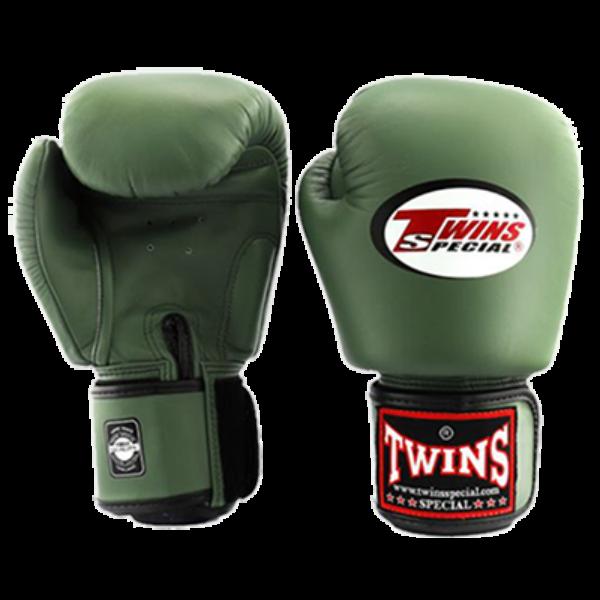 Twins_muay_thai_boxkesztyű_BGVL-3_sötétzöld