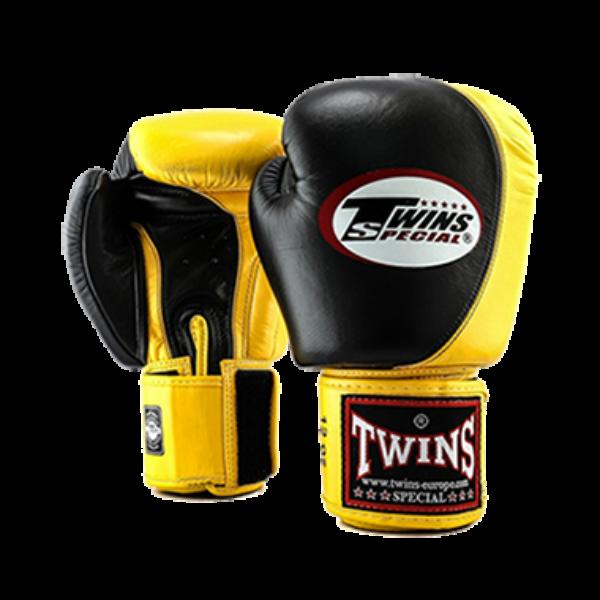 Twins_muay_thai_boxkesztyű_BGVL-9_fekete-sárga