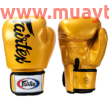 Fairtex BGV19 boxkesztyű, arany